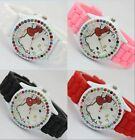 Girls Hello Kitty Jelly Watch (available In 4 Colors)w/color Bling