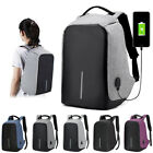 Create Anti-theft USB Charging Travel Backpack Laptop Notebook Christmas Gift