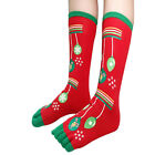 Christmas Xmas Women's Funny Warm Five Toe Socks Bed Lounge Tube Socks Gifts Hot