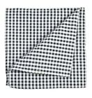 Black and White Checkered Cotton Pocket Square by Paul Malone