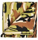 Green and Brown Camouflage Cotton Pocket Square by Paul Malone