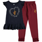 Cleveland Cavaliers Preschool Black Love Ruffle Pant and T-Shirt Set - NBA
