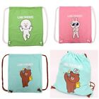 NEW JAPAN LINE FRIENDS APP CHARACTERS COTTON DRAWSTRING BACKPACK CONY/MOON