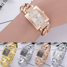Womens Crystal Stainless Steel Watch Ladies Quartz Bracelet Casual Wrist Watches image