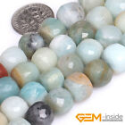"Natural Multi-Color Amazonite Gemstone Cube Loose Beads For Jewelry Making 15""YB"