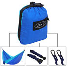 Camping Parachute Nylon Hammock W/Tree Straps&Alloy Carabiners For Backpacking
