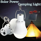 20W Solar Panel Powered LED Bulb Light Portable Outdoor Camping Tent Energy Lamp