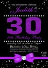 Women's Personalised Birthday Party Invitations Cards Any - With Free Envelopes