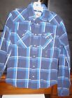 Hollister Mens Western Plaid LS Button down Shirts S M L New with tags of $49.50