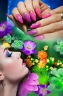 "LOVELY SALON POSTERS  24""x36""  NAIL MASSAGE WAXING HAIR SPA BEAUTY DECOR ART"