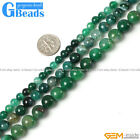 Green Dragon Veins Agate Round Beads For Jewelry Making Free Shipping Strand 15""