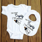 Funny Cotton Not Crying Ordering Baby Bodysuit BIBS Grow Gift Nontoxic Ink vest