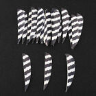 50pcs 3'' Striped Shield Arrow Feathers Natural Turkey Feathers Fletching