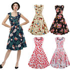 Us Cheap Hepburn Style Womens Floral Retro Vintage Rockabilly Party Swing Dress