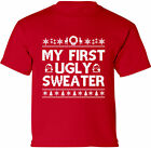 Funny Christmas Shirt for Kids My First Ugly Sweater Shirt Kid's Christmas Gifts