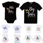 Big Little Sister Brother Matching Outfits Baby Kid Boy Girl Romper T Shirt Tops