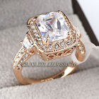 A1-R3021 Fashion Engagement Wedding Ring 18KGP CZ Rhinestone Crystal Size 5.5