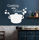 Vinyl Go bust enclose Decal Kitchen Decor Casserole Pan Cooking With Be thrilled by Stickers (2122ig)