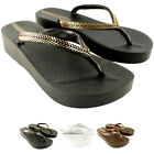Womens iPanema Bella Wedge Slip On Summer Beach Holiday Flip Flop Sandals UK 3-8