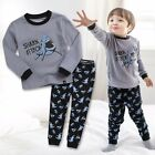 "Vaenait Baby Toddler Kids Boy Clothes Sleepwear Pyjama Set ""Shark attack"" 12M-7T"