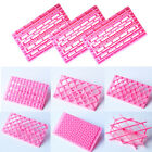 Pink Fondant Quilt Square Flower Cutter Cake Stamp Embosser Mold Decorating Tool