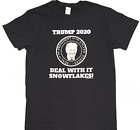 DEAL WITH IT SNOWFLAKES - President Donald Trump - Men's Navy T-Shirt Republican