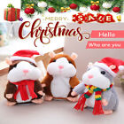 US Talking Hamster Plush Toy Repeats What You Say Electronic Pet Christmas Gift