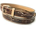 MENS WESTERN BELT. CINTO CHARRO. VAQUERO LEATHER BELT. COWBOY. COWGIRL