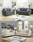 Up to date Design 2 Colors Gray /Ivory Living Room 3 Pc Sofa Set W/ Pillows