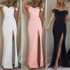 Women Trendy Off Shoulder Long Maxi Dress Evening Party Cocktail Beach Dress
