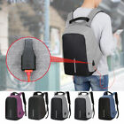 Anti-boosting Unisex Laptop Notebook Backpack Travel School Bag w/ USB Charger Port