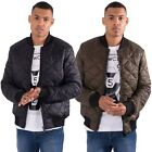 Mens Casual Street Quilted Bomber Zip Through Jacket Coat By L&F Sizes S - XL