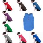 HOT Solid Color Dog Vest Clothes Puppy Cat T-Shirt Soft Fleece Pet Coat Costumes