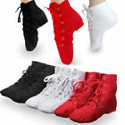 discount jazz shoes - Men Women Modern Canvas Jazz Ballet Dance Split Heels Soft Sole Ankle Shoes