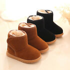 Baby Unisex Toddler Warm Boots Boys Girls Winter Snow Fur Slip-On Soft Shoes US