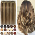 Clip in One Piece Remy 100% Human Hair Extensions 3/4Full Head Any Color MM952