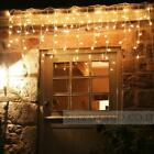 96-960 LED String Hanging Stars Icicle Snowing Curtain Light Outdoor Xmas Party