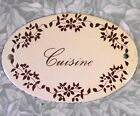 VINTAGE FRENCH ENAMEL DOOR SIGN CUISINE (KITCHEN) PRIVE (PRIVATE) BEBE (BABY)