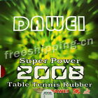 Dawei Super Power 2008 Pips In Table Tennis Rubber with Sponge