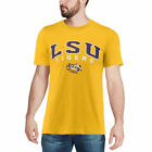 Colosseum LSU Tigers Heathered Gold Distressed Arch Over Logo T-Shirt - College