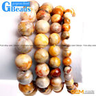 """Handmade Yellow Crazy Lace Agate Beaded Energy Healing Stretchy Bracelet Gift 7"""""""