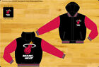 NBA Men's Miami Heat Reversible Fleece Jacket with Removable Hood on eBay
