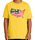 Stand for US Flag Kid's T-shirt American Patriotic Protest Tee for Youth - 1921C