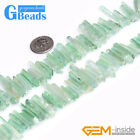 4x27mm Natural Quartz Dyed Color Stick Point Beads for Jewelry Making Strand 8""