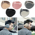 Unisex Women Men Winter Earmuff Knit Adjustable Wrap Around Ear Muffs Warmer US