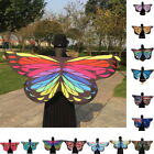 Womens Ladies Colorful Butterfly Wing Cape Wrap Shawl Scarves Beach Towel Pareo