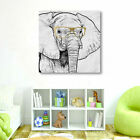 Elephant Fashion Stretched Canvas Print Framed Wall Art Home Office Decor Gift