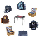 Picnic Basket Backpack Picnic Equipment Foldable Table Blanket For Camping