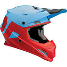 Thor Adult  Youth Powder Blue Red Sector Level Dirt Bike Helmet MX ATV 2018