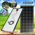 100W 12V Elfeland Solar Panel Mono Battery Charger Off Grid + 2.5m Wire For RV